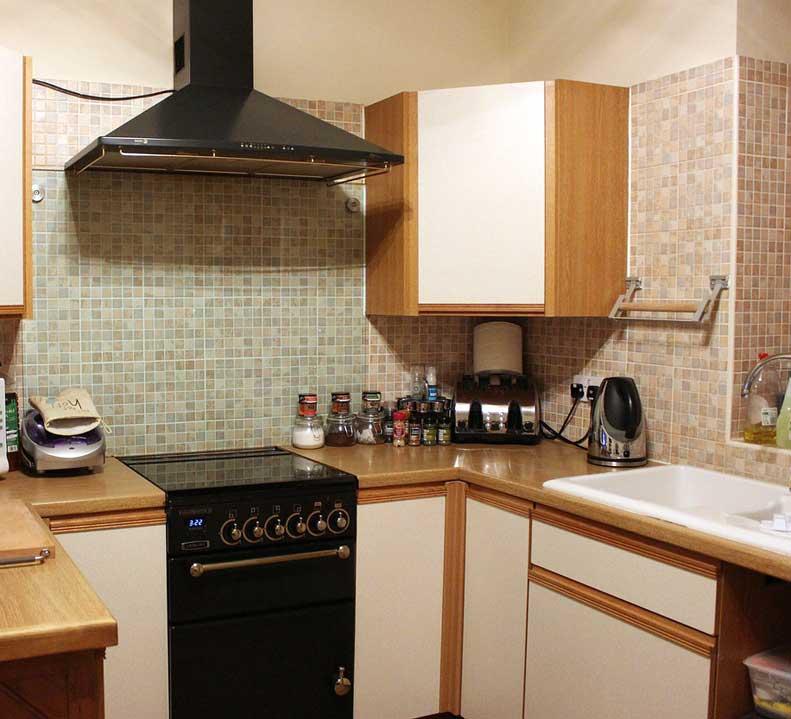 Azulejos de la cocina vacíos